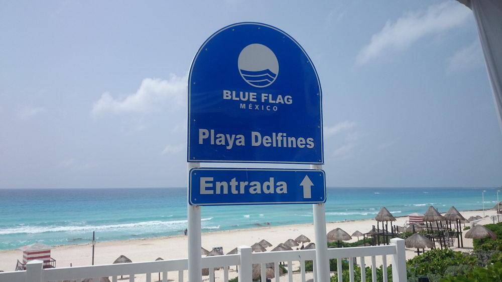 Playa delfines bandera azul